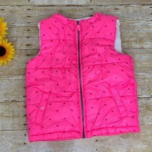 Girls pink puffer vest by Carter's. Size 6x